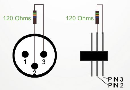 diagrama resistencia DMX
