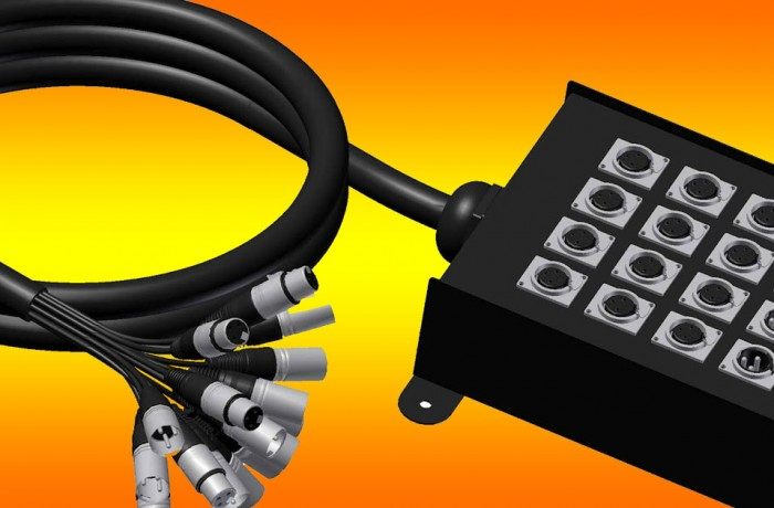 Conectores audio, video, iluminación