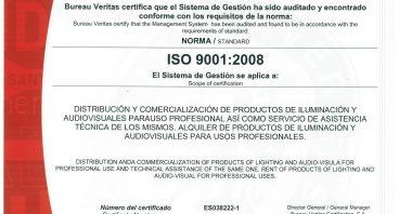Certificado ISO 9001:2008 Siluj